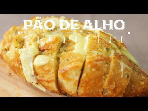 Receita de Pão de Alho com MUITO Queijo