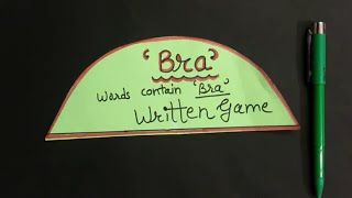 BRA Written Game For Kitty Party | One Minute Naughty Paper Games | English |