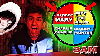 DO NOT SPIN THE MYSTERY WHEEL CHALLENGE AT 3AM!! *OMG SO CREEPY*