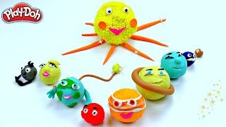 DIY How To Make Easy Emoji Play Do Sun And Our Solar System Planets Mercury  Venus Earth ...
