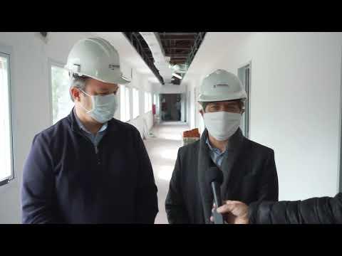 Kicillof recorrió las obras de reconstrucción de Hospital en  Almirante Brown