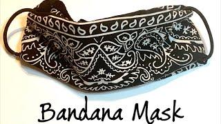 Bandana Face Mask- With Hair Ties- No Sewing DIY