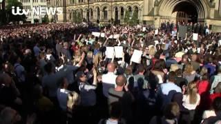 Manchester Attack: Vigil Chants in Defiance of Terror