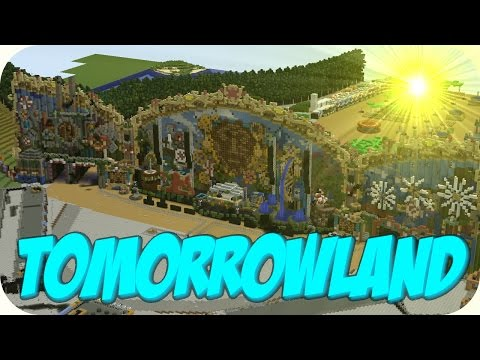 Tomorrowland Festival Belgium 2014 Minecraft Project on