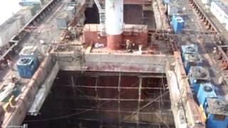 Cosco Shipyard. Nantong. Сухой док в Нантонге.