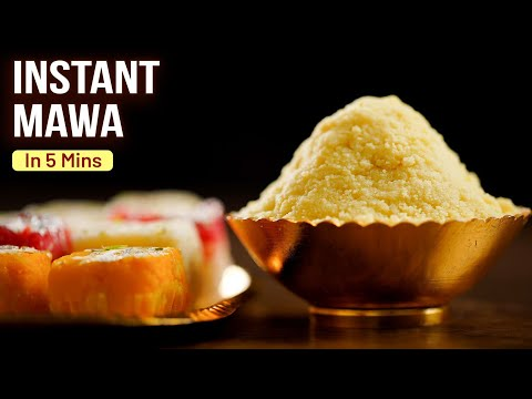 How To Make Mawa In 5 Mins | 3 Ingredients Mawa | MOTHER'S RECIPE | Instant Mawa Recipe At Home