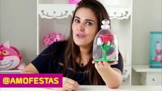 """CENTRO DE MESA DA """"A BELA E A FERA"""" DE EVA E GARRAFA PET"""