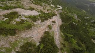 FPV drone speed runs in the alps