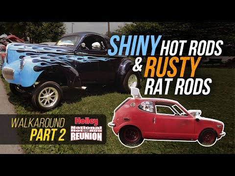 Shiny Hot Rods and Rusty Rat Rods - Holley Hot Rod Reunion