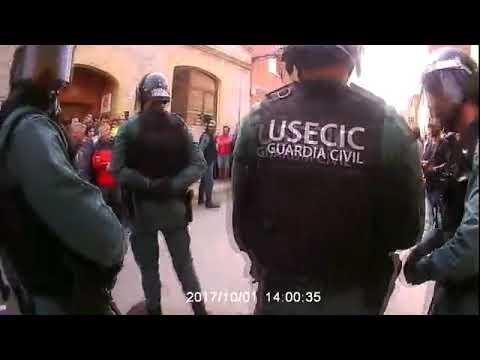 Actuació de la Guàrdia Civil al municipi de Sant Martí Sesgueioles l'1-O