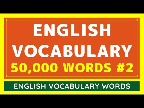 50,000 Daily Use English Vocabulary Words List #2