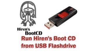 Run Hiren's Boot CD from USB Flashdrive by Britec