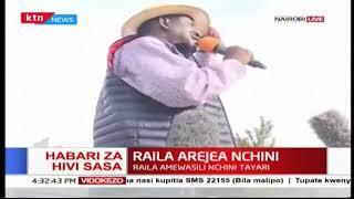 """Uhuru bye bye...Uhuru bye bye"" Raila Odinga"