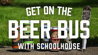 Schoolhouse Brewery Nova Scotia, Beer Bus Cooler Bag Animation