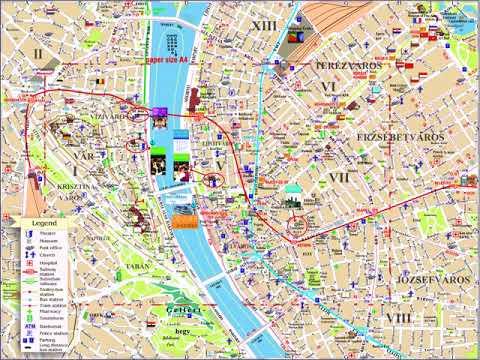 карта будапешта с достопримечательностями на русском языке