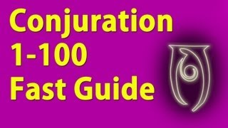 Conjuration 1-100 Guide Skyrim Fastest way to level!
