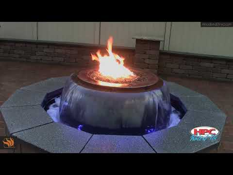 Evolution Hammered Copper Gas Fire Bowl System