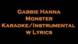 Gabbie Hanna   Monster Reborn KaraokeInstrumental W Lyrics