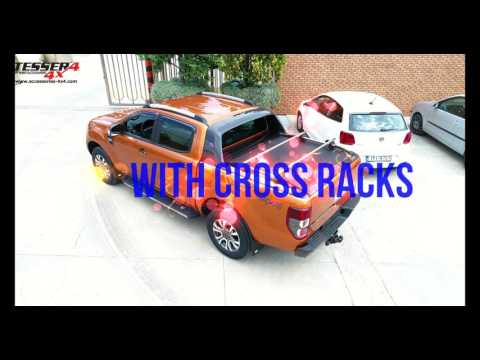 Ford Ranger Wildtrak 2016+ con accessori extra coperchio a rullo in alluminio