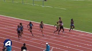 Bondoufle 2018 : Finale 100 m Cadettes (Gemima Joseph en 11''66)