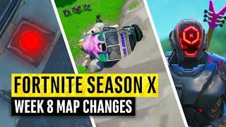 Fortnite | All Season X Map Updates And Hidden Secrets! WEEK 8