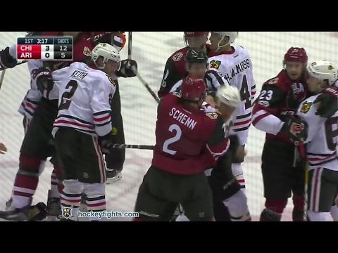Luke Schenn vs. Andrew Desjardins