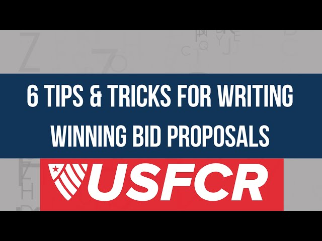 federal proposal writing us federal contractor registration
