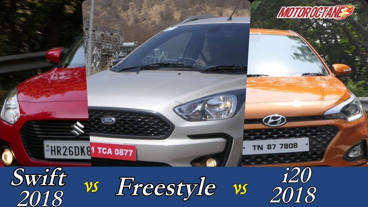 Motoroctane Youtube Video - Ford Freestyle vs Maruti Swift 2018 vs Hyundai Elite i20 Comparison | MotorOctane