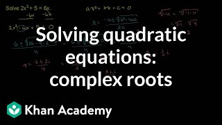Complex Roots from the Quadratic Formula