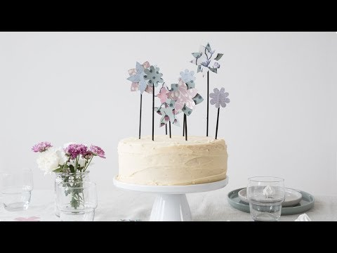 DIY : Homemade cake decoration by Søstrene Grene