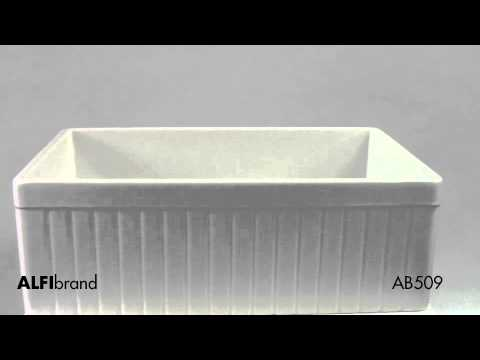 Video for Biscuit 30-inch Fluted Apron Single Bowl Fireclay Farmhouse Kitchen Sink