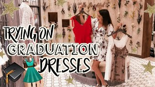 Trying On Graduation Dresses 2019! What To Wear To Graduation! 🎓