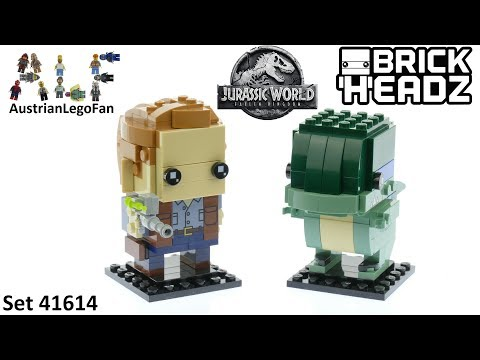 Vidéo LEGO BrickHeadz 41614 : Owen & Blue (Jurassic World)
