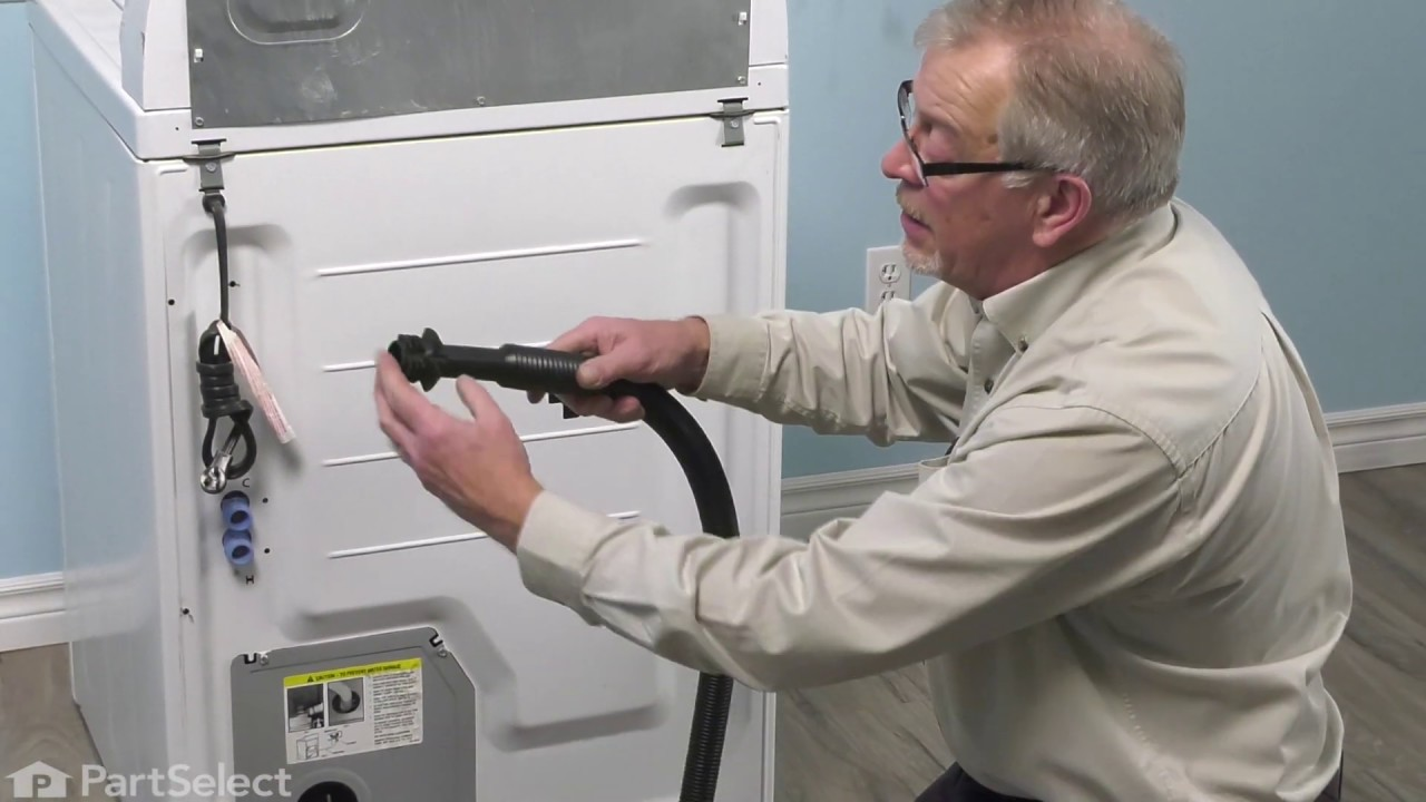 Replacing your Admiral Washer Drain Hose with Bend and Stay