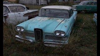 Farmyard Relics! exploring a field of old classic junkyard cars
