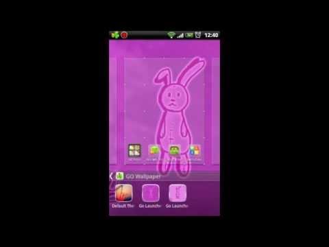 Video of Go Launcher EX Theme Rabbit