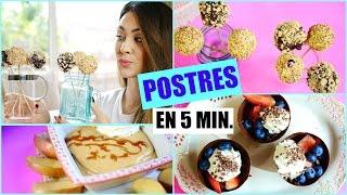 POSTRES FÁCILES SIN HORNO | 3 Recetas Deliciosas! Lizy P