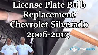 License Plate Bulb Fix Chevrolet Silverado
