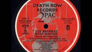 "2 Pac Ft Snoop Doggy Dogg - 2 Of Amerikaz Most Wanted - 12"" Death Row Records 1996 - G-FUNK"