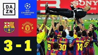 Der FC Barcelona trifft im Finale der UEFA Champions League 2011 auf Manchester United. Pep Guardiolas Team geht drüh durch einen Treffer von Pedro Rodriguez in Führung. Wayne Rooney kann für die Red Devils ausgleichen, doch Barca dreht in der zweiten Hälfte auf. Ein überragender Lionel Messi trifft zur erneuten Führung und David Villa macht mit dem 3:1 Barcas Titeltraum perfekt.   ►Sichere dir deinen Gratismonat: http://bit.ly/DAZNerleben ►Alle Infos zur UEFA Champions League: https://bit.ly/2GD8lqf ►Das Programm von DAZN: http://bit.ly/2uFkulD ►DAZN auch auf Facebook: https://bit.ly/2lUGipo  +++ Die besten Fußball Highlights aus allen Wettbewerben auf YouTube +++ ►DAZN UEFA Champions League auf YouTube abonnieren: https://bit.ly/2WL75qD  ►DAZN UEFA Europa League auf YouTube abonnieren: https://bit.ly/2DTc8yb  ►DAZN Bundesliga auf YouTube abonnieren: https://bit.ly/2Daw8dS  ►DAZN Länderspiele auf YouTube abonnieren: https://bit.ly/2XAYNSd ►Goal auf YouTube abonnieren: https://bit.ly/2Bk4H0Y   +++ Die besten Sport Highlights auf YouTube +++ ►DAZN Tennis auf YouTube abonnieren: https://bit.ly/2DblEuK  ►DAZN Darts auf YouTube abonnieren: https://bit.ly/2ScVbqU    ►SPOX auf YouTube abonnieren: https://bit.ly/2MPaQqI   Erlebe tausende Sportevents in HD-Qualität auf allen Geräten. Auf DAZN gibt's europäischen Top-Fußball mit UEFA Champions League, UEFA Europa League, Premier League, Bundesliga-Highlights, La Liga, der Serie A und Ligue 1 sowie den besten US-Sport aus NFL, NBA, MLB und NHL. Dazu: Fight Sports, Darts, Tennis, Hockey und vieles mehr - wann und wo du willst.   ERLEBE DEINEN SPORT LIVE UND AUF ABRUF. AUF ALLEN GERÄTEN.   +++ Über DAZN +++   DAZN ist ein Livesport-Streamingdienst, der es Fans erlaubt, Sport so zu erleben, wie sie es möchten. Egal ob live zu Hause, unterwegs, zeitversetzt oder im Rückblick, DAZN bietet über 8.000 Sportübertragungen pro Jahr und beinhaltet damit das umfangreichste Sportangebot, das es jemals bei einem einzelnen Anbieter gegeben 