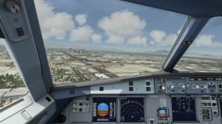 Cockpit Airbus A320 landing at Las Vegas [Aerofly 2] PC-HD