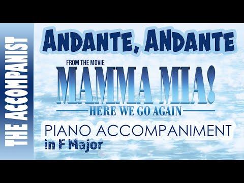 Andante Andante From The Movie Mamma Mia Here We Go Again Piano Accompaniment Karaoke