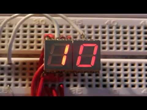 Arduino simple countdown timer with 7 segment display