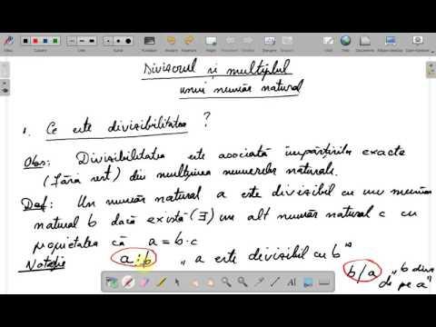 Notiunea de divizor si multiplu clasa a V a ( www.supermeditatii.ro)