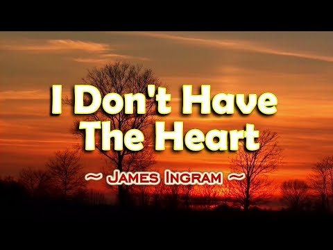 I Don't Have The Heart - James Ingram (KARAOKE VERSION)