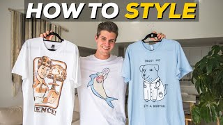 5 Ways To Style GRAPHIC TEES | Parker York Smith