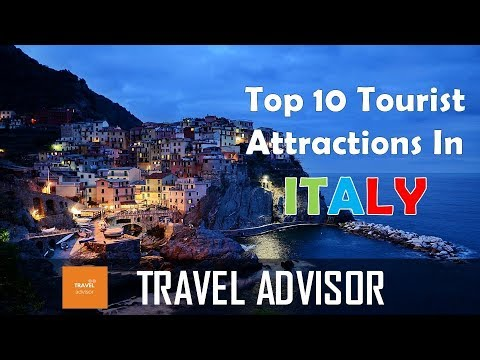 Video ITALY  - Top 10  tourist attractions that you MUST SEE | HD