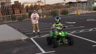 טרקטורון ורולר בליידס עם התרסקות  ATV and RlollerBlades crash