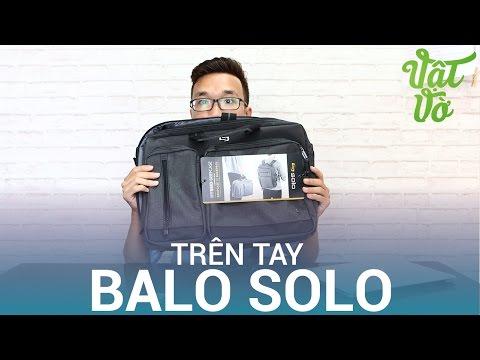 Vật Vờ  Trên tay balo & túi chống sốc thương hiệu Solo