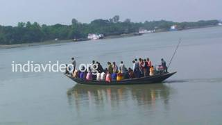 Ferry boats in Brahmaputra river, West Bengal